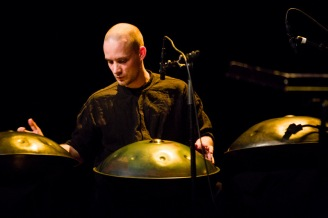 Percussionist David Kuckhermann from Germany Frame drums, riq, cajon, udu and hang. http://worldpercussion.net